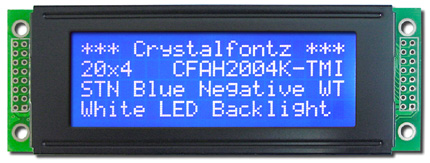 white/blue lcd